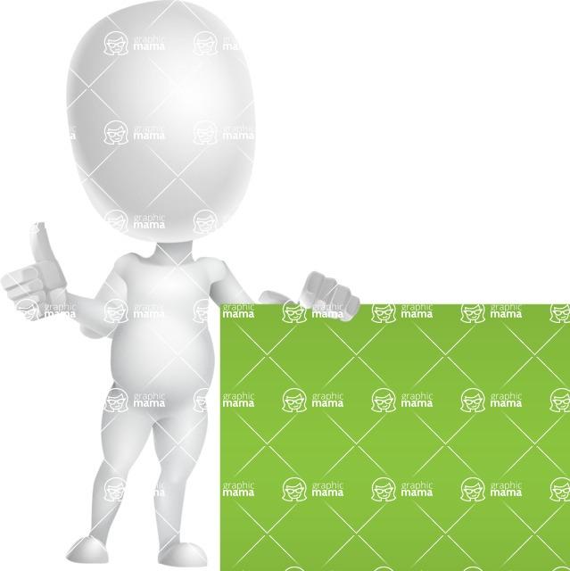 Vector 3D Business Cartoon Character AKA Plumpy - Sign 7