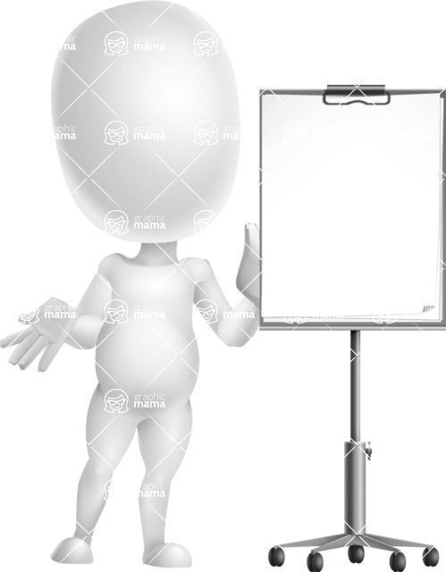 Vector 3D Business Cartoon Character AKA Plumpy - Presentation 1