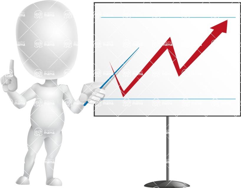 Vector 3D Business Cartoon Character AKA Plumpy - Presentation 2