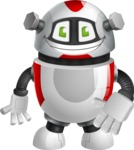 Smart Robot Cartoon Vector Character AKA Chubbydroid 3000 - Normal