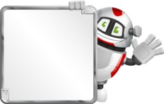 Smart Robot Cartoon Vector Character AKA Chubbydroid 3000 - Presentation 2