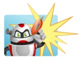 Smart Robot Cartoon Vector Character AKA Chubbydroid 3000 - Shape1