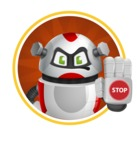 Smart Robot Cartoon Vector Character AKA Chubbydroid 3000 - Shape2