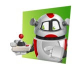 Smart Robot Cartoon Vector Character AKA Chubbydroid 3000 - Shape3