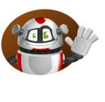 Smart Robot Cartoon Vector Character AKA Chubbydroid 3000 - Shape4