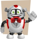 Smart Robot Cartoon Vector Character AKA Chubbydroid 3000 - Shape6