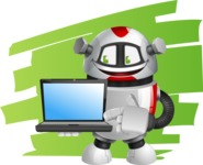 Smart Robot Cartoon Vector Character AKA Chubbydroid 3000 - Shape7