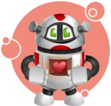 Smart Robot Cartoon Vector Character AKA Chubbydroid 3000 - Shape8