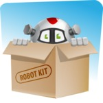 Smart Robot Cartoon Vector Character AKA Chubbydroid 3000 - Shape9
