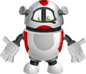 Smart Robot Cartoon Vector Character AKA Chubbydroid 3000 - Lost
