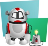 Smart Robot Cartoon Vector Character AKA Chubbydroid 3000 - Shape10
