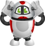 Smart Robot Cartoon Vector Character AKA Chubbydroid 3000 - Confused