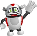 Smart Robot Cartoon Vector Character AKA Chubbydroid 3000 - Hello