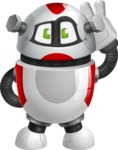 Smart Robot Cartoon Vector Character AKA Chubbydroid 3000 - Oops