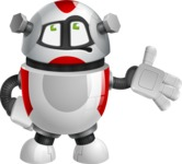 Smart Robot Cartoon Vector Character AKA Chubbydroid 3000 - Bored