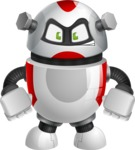 Smart Robot Cartoon Vector Character AKA Chubbydroid 3000 - Angry