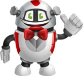 Smart Robot Cartoon Vector Character AKA Chubbydroid 3000 - Gentleman