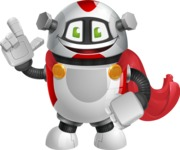 Smart Robot Cartoon Vector Character AKA Chubbydroid 3000 - Super Robot