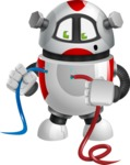 Smart Robot Cartoon Vector Character AKA Chubbydroid 3000 - Cable