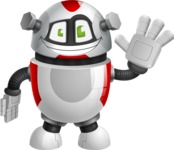 Smart Robot Cartoon Vector Character AKA Chubbydroid 3000 - Wave