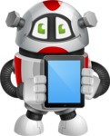 Smart Robot Cartoon Vector Character AKA Chubbydroid 3000 - iPad 1