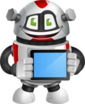 Smart Robot Cartoon Vector Character AKA Chubbydroid 3000 - iPad 2
