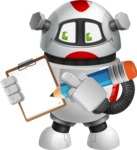 Smart Robot Cartoon Vector Character AKA Chubbydroid 3000 - Notepad