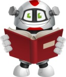 Smart Robot Cartoon Vector Character AKA Chubbydroid 3000 - Book