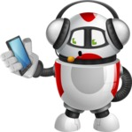 Smart Robot Cartoon Vector Character AKA Chubbydroid 3000 - Support