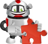 Smart Robot Cartoon Vector Character AKA Chubbydroid 3000 - Puzzle