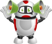 Smart Robot Cartoon Vector Character AKA Chubbydroid 3000 - Listen