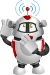 Smart Robot Cartoon Vector Character AKA Chubbydroid 3000 - Wi-Fi