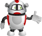 Smart Robot Cartoon Vector Character AKA Chubbydroid 3000 - Show