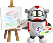 Smart Robot Cartoon Vector Character AKA Chubbydroid 3000 - Artist