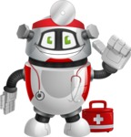 Smart Robot Cartoon Vector Character AKA Chubbydroid 3000 - Doctor