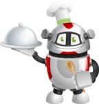 Smart Robot Cartoon Vector Character AKA Chubbydroid 3000 - Cook