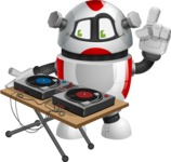 Smart Robot Cartoon Vector Character AKA Chubbydroid 3000 - DJ