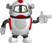 Smart Robot Cartoon Vector Character AKA Chubbydroid 3000 - Point
