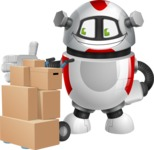 Smart Robot Cartoon Vector Character AKA Chubbydroid 3000 - Delivery 2