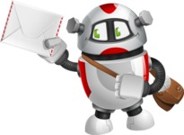 Smart Robot Cartoon Vector Character AKA Chubbydroid 3000 - Delivery 3