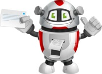 Smart Robot Cartoon Vector Character AKA Chubbydroid 3000 - Printer