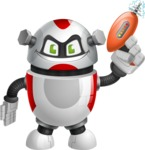 Smart Robot Cartoon Vector Character AKA Chubbydroid 3000 - Gun 1