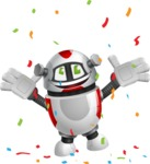 Smart Robot Cartoon Vector Character AKA Chubbydroid 3000 - Celebrate