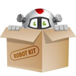Smart Robot Cartoon Vector Character AKA Chubbydroid 3000 - Box