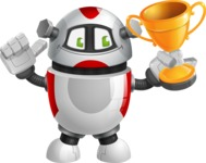 Smart Robot Cartoon Vector Character AKA Chubbydroid 3000 - Winner