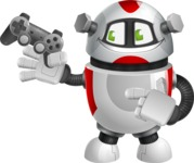 Smart Robot Cartoon Vector Character AKA Chubbydroid 3000 - Game