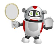 Smart Robot Cartoon Vector Character AKA Chubbydroid 3000 - Tennis 2