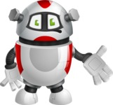 Smart Robot Cartoon Vector Character AKA Chubbydroid 3000 - Sorry