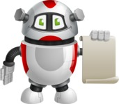 Smart Robot Cartoon Vector Character AKA Chubbydroid 3000 - Sign 1