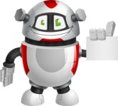 Smart Robot Cartoon Vector Character AKA Chubbydroid 3000 - Sign 2